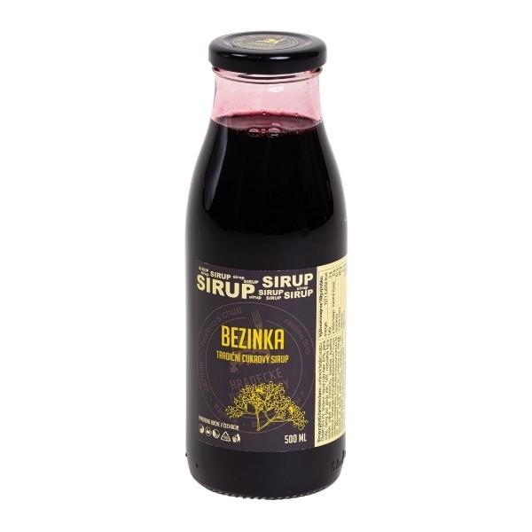 Bezinkový sirup (z plodů) – 500 ml