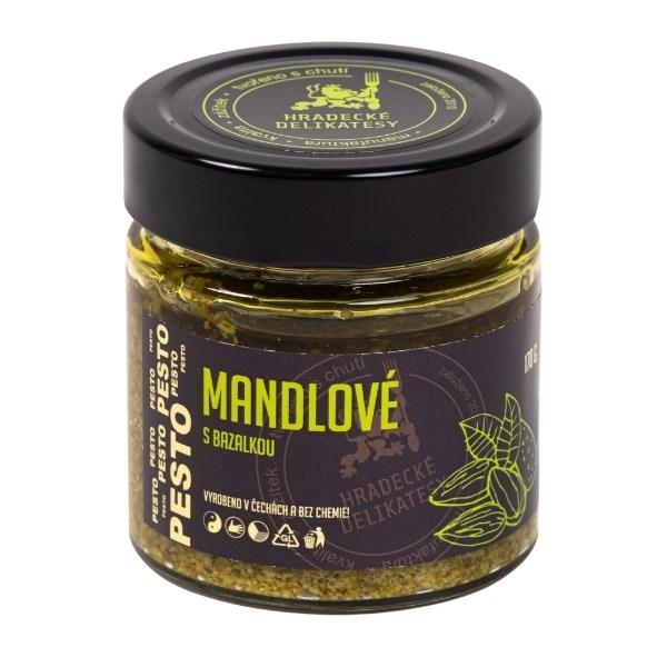 Mandlové pesto s bazalkou – 170 g