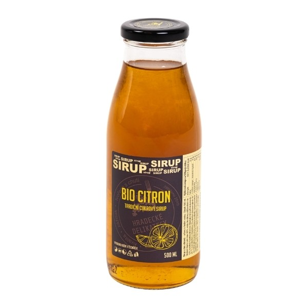 Citronový sirup (z bio citronů) – 500 ml