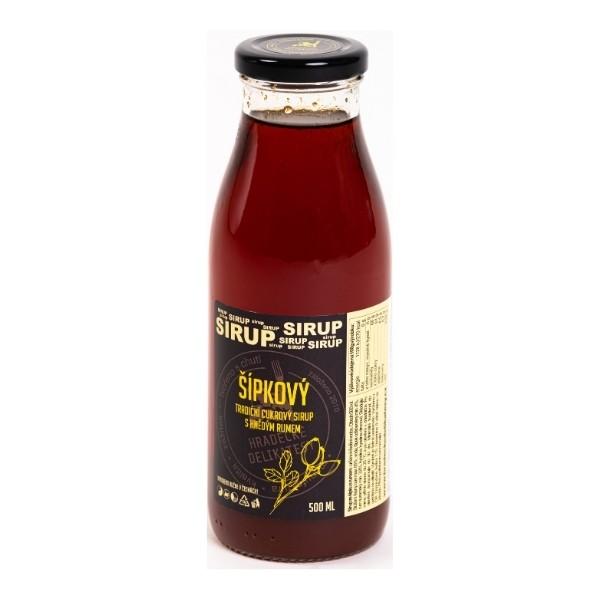 Šípkový sirup s rumem – 500 ml