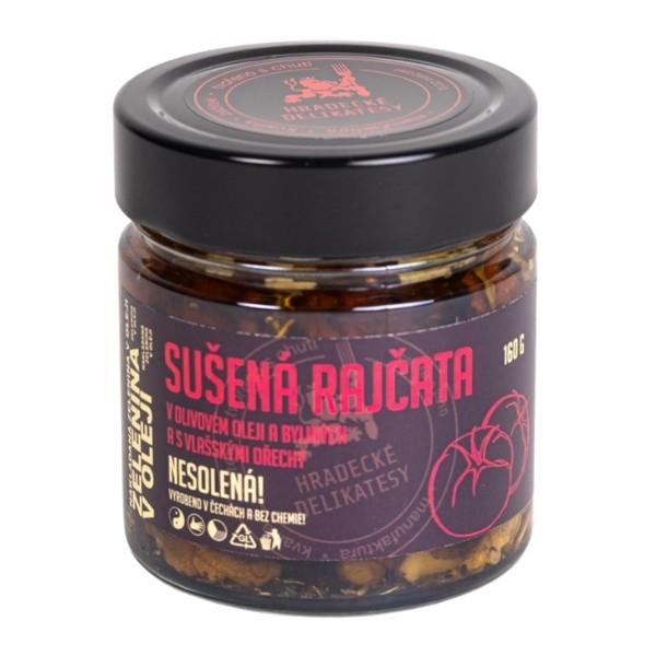 Sušená rajčata v oleji s vlašskými ořechy – 160 g