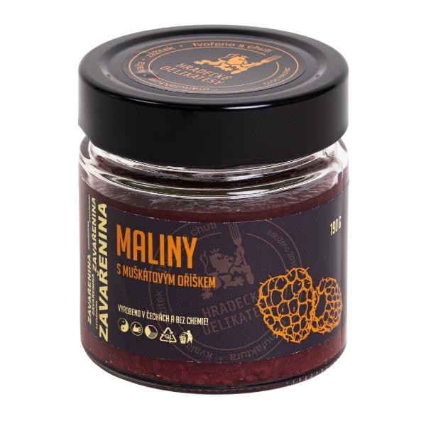 Malinová zavařenina s muškátovým oříškem – 190 g