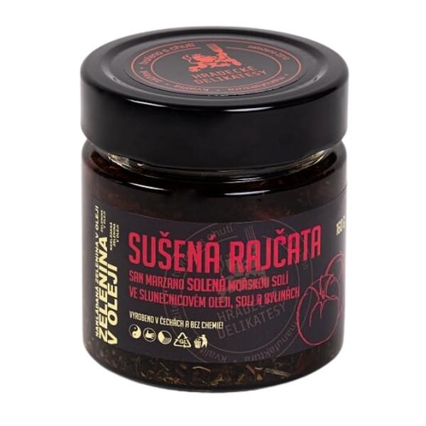 Sušená rajčata San Marzano solená ve slunečnicovém oleji – 160 g