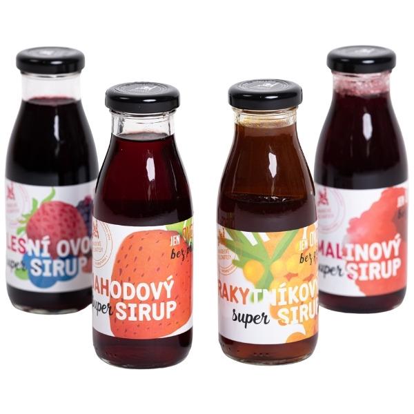 Super sirupy – sada 4 druhů – 4 x 250 ml
